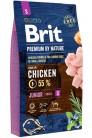 Brit Premium by Nature Junior S  с курицей