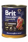 Brit Premium by Nature с говядиной и печенью