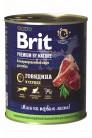 Brit Premium by Nature с говядиной и сердцем