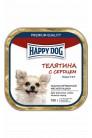 Happy Dog mini паштет с телятиной и сердцем