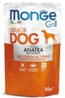 Monge Dog Grill SENIOR Pouch с уткой