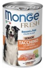 Monge Dog Fresh Chunks in Loaf Turkey Senior