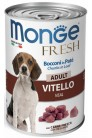 Monge Dog Fresh Chunks in Loaf Veal Adult