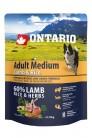 Ontario Adult Medium Lamb&Rice 0.75 kg