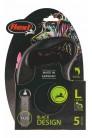 Flexi рулетка L (до 50 кг) 5 м лента черный/розовый pack