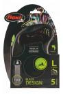 flexi рулетка L (до 50 кг) 5 м лента черный/зеленый pack