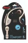 Flexi рулетка L (до 60 кг) лента 5 м серый/черный pack