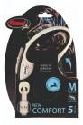 Flexi рулетка M (до 25 кг) лента 5 м серый/черный pack