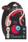 Flexi рулетка M (до 25 кг) лента 5 м серый/красный pack