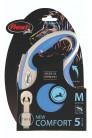 Flexi рулетка M (до 25 кг) лента 5 м серый/синий pack